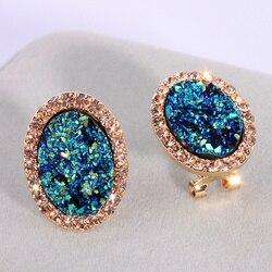 Новые модные круглые серьги-гвоздики для женщин, очаровательные серьги с кристаллами, свадебные серьги, ювелирные изделия, элегантный пода...