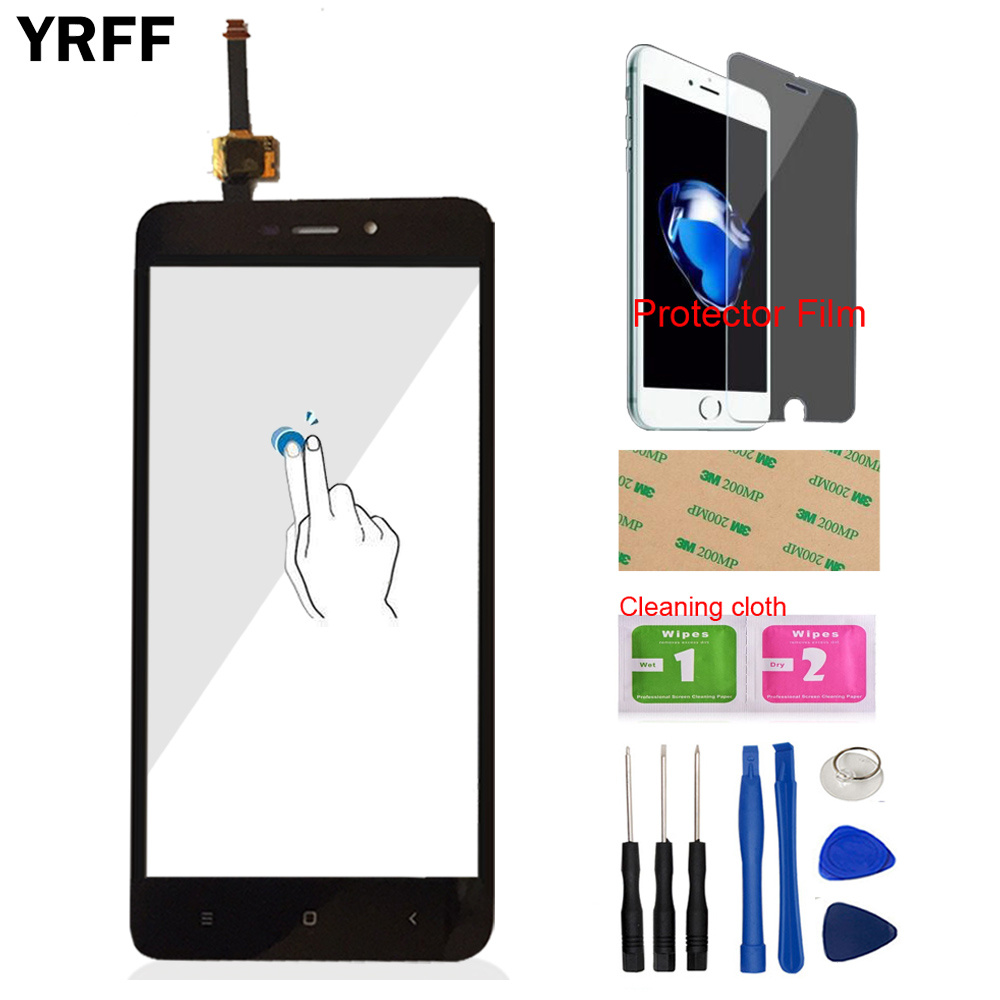 For Xiaomi Redmi 4A Touch Screen Digitizer Panel Glass Sensor Tools Phone Protector Film
