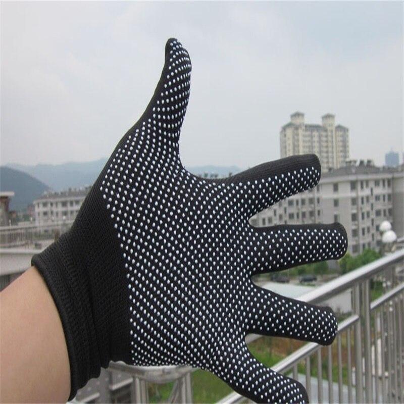 1 Paire G Tong De Coiffure Résistant À La Chaleur DoigtGantsDérapageRésistance Burn-proof Noir Gris Protective Gloves