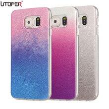 Coque For Galaxy S7 Case Glitter Silicone Cover For Samsung Galaxy Note 5/ S3/ S4/ S5/ S6 EDGE Soft TPU Back Shiny Fundas Case