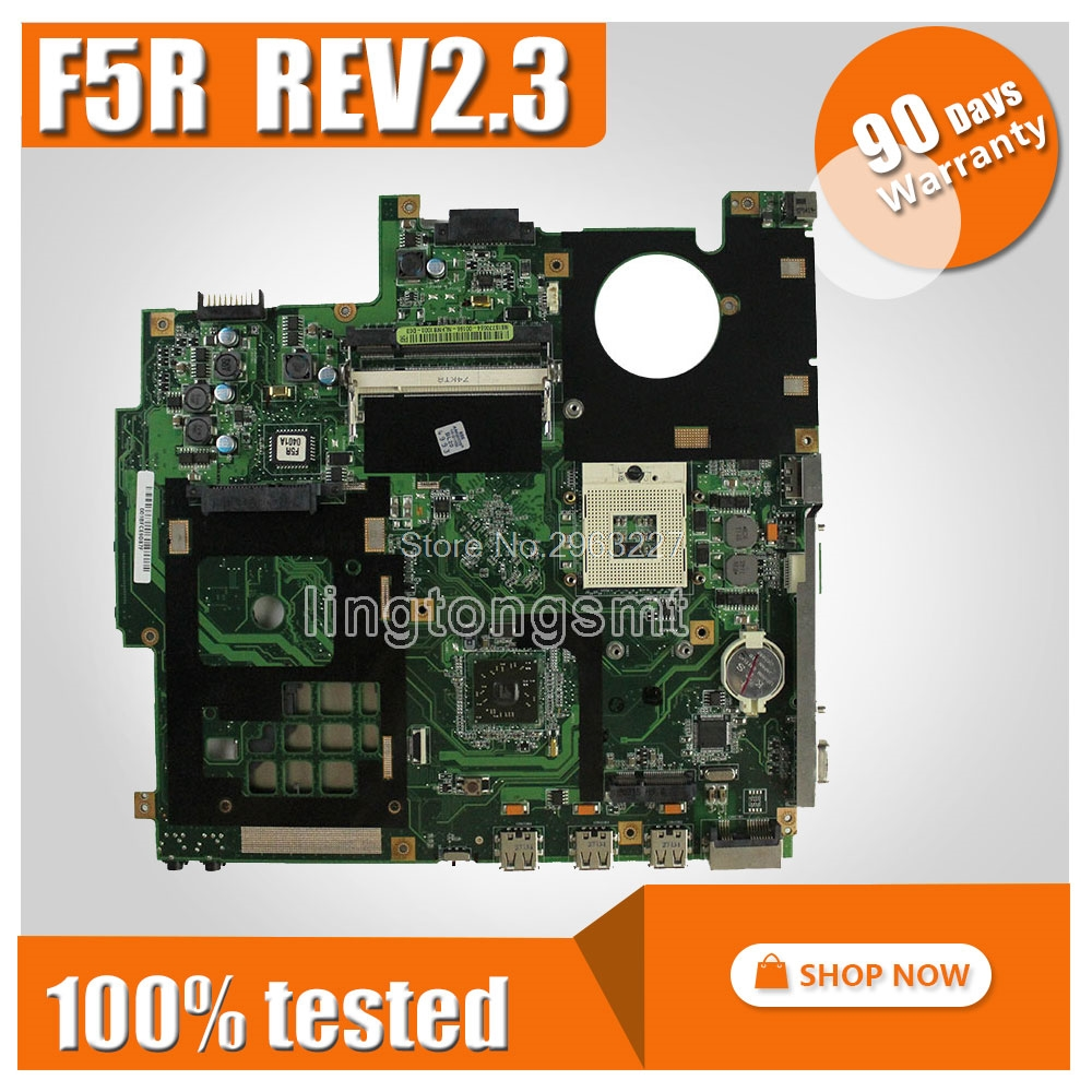 For Asus F5R F5RL X50R X50RL Laptop Motherboard REV REV2.3 replace F5SL F5N Motherboard fully tested 100% working free shipping for asus f5rl x50rl rev 2 0 laptop motherboard mainboard 08g2005fr20v 90days warranty