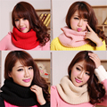Hot Sale 2016 New Fashion Style Unisex Winter Knitted Scarves Wool Collar Neck Warmer Women Crochet Ring Loop Scarf