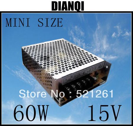 power supply 60W 15V 4A power suply unit 60w 15v mini size din led ac dc converter ms-60-15 nes 15 48 ac dc mini size 15w led power supply
