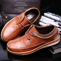 New 111% Genuine Leather Lace-Up Men Flats Handmade Low Top Men Boat Shoes Big Size 18 CM Footwear