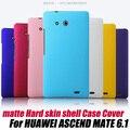 Frosted MATE duro caso de la piel para HUAWEI ASCEND compañero 6.1 X 1 / MT1-U06 + PROTECTOR de pantalla, envío gratis