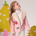 Girls Jackets Coats 2017 New  Arrivals Fashion Lamb Wool Thick Warm Parka Down Kids Clothes Cotton Children's Outwear Clothing