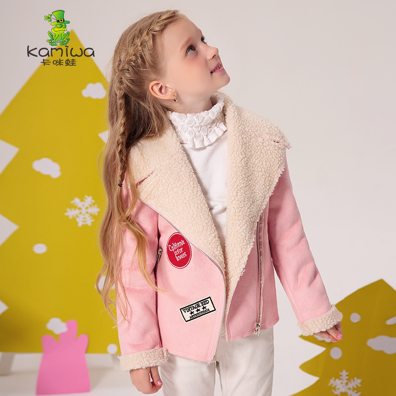 Girls Jackets Coats 2018 New  Arrivals Fashion Lamb Wool Thick Warm Parka Down Kids Clothes Cotton Children's Outwear Clothing 2018 new fashion suede lamb wool women coats double breasted warm solid thick long overcoat casual winter cotton jackets female