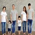 Новый родитель-ребенок наряд летом носить с короткими рукавами семья ручной любовь три Футболки семья посмотрите
