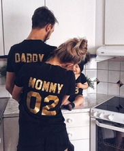 Family Matching Clothes 2017 Hot Sale Family Look Cotton T-shirt DADDY MOMMY KID BABY Funny Letter Print Number Tops Tees Summer