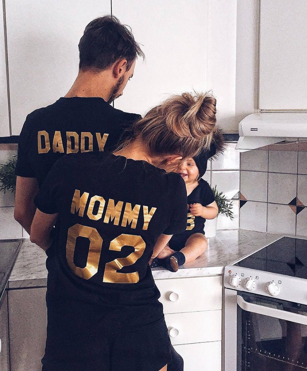 Family Matching Clothes 2017 Hot Sale Family Look Cotton T-shirt DADDY MOMMY KID BABY Fu ...