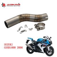 Alconstar GSXR1000 GSXR 1000 Motorcycle Exhaust Middle Pipe for SUZUKI GSXR 1000 2006 Motorcycle Stainless Steel without Exhuast