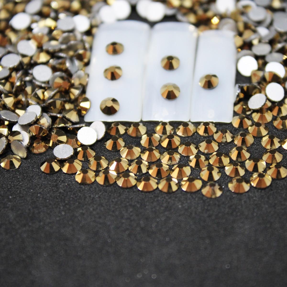 Nail gems SS3-SS10 Nail Art Decorations Rhinestones 3d nail art dekor Charm Glass Flatback nails accessoires diamonds jewelry