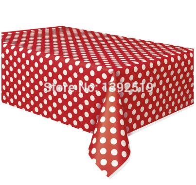Free Shipping 5pcs Minnie Mouse Polka Dots Table Covers Red Black Lady Bug Birthday Mickey Table Cloth in Disposable Party Tableware from Home Garden