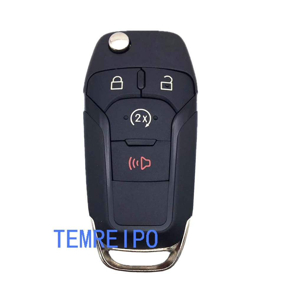 10pcs/lot Smart remote <font><b>key</b></font> case 4 button 164R8109 for <font><b>Ford</b></font> Edge Escap Explorer <font><b>Fusion</b></font> <font><b>2015</b></font> 2016 2017 <font><b>key</b></font> shell R image
