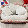 100% Brand New 4Pcs/Set 2 Colors Baby Newborn Pillow Basket Filler Wheat Donut Photography Props