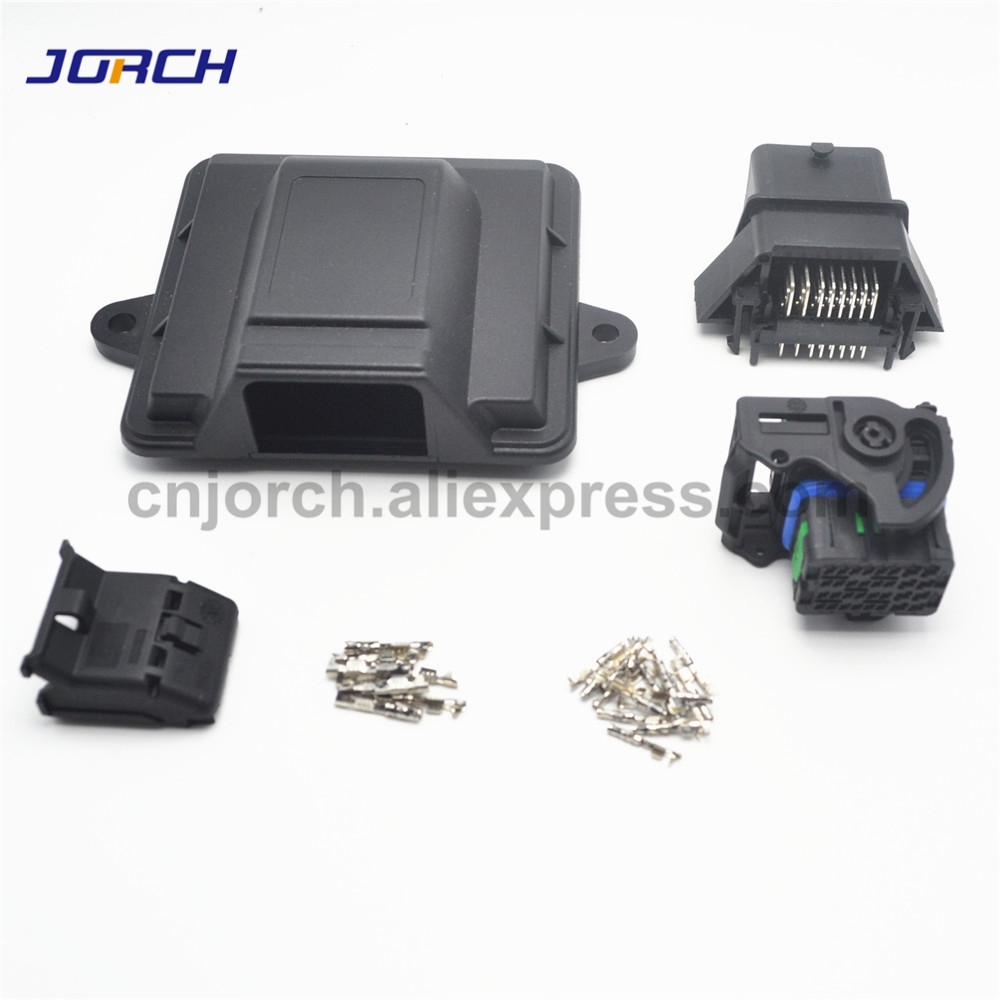 1 Kit Set 32pin Way ECU Automotive Plastic Enclosure Box Case Motor Car ECU Controller With Auto Molex Connectors
