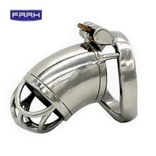 FRRK Stainless Steel Male Chastity Device Penis Ring Cock Cage Virginity Lock Rings Sex Toys for Men Penis ring 40mm/45mm/50mm все цены
