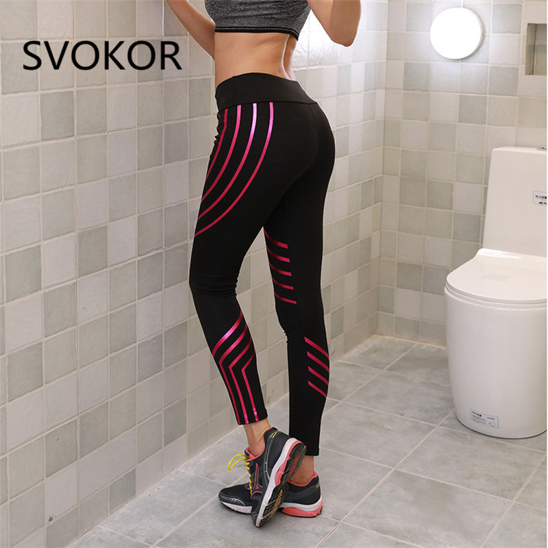 SVOKOR S-XL Women   Legging   Sexy High Waist Ankle-Length Polyester Glowing Trouser Slim Casual Fitness Women   Leggings   7 Colour