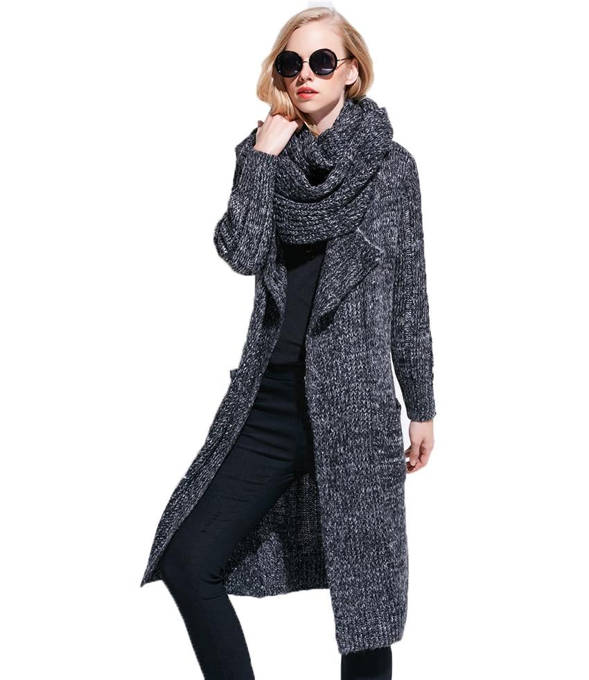 Fashion women's Long cardigan Sweater large size women loose ...