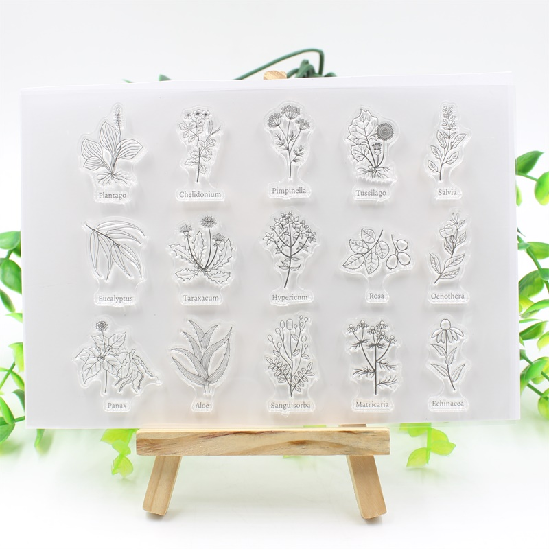 YPP CRAFT Plants Transparent Clear Silicone Stamp/Seal for DIY scrapbooking/photo album Decorative clear stamp about lovely baby design transparent clear silicone stamp seal for diy scrapbooking photo album clear stamp paper craft cl 052