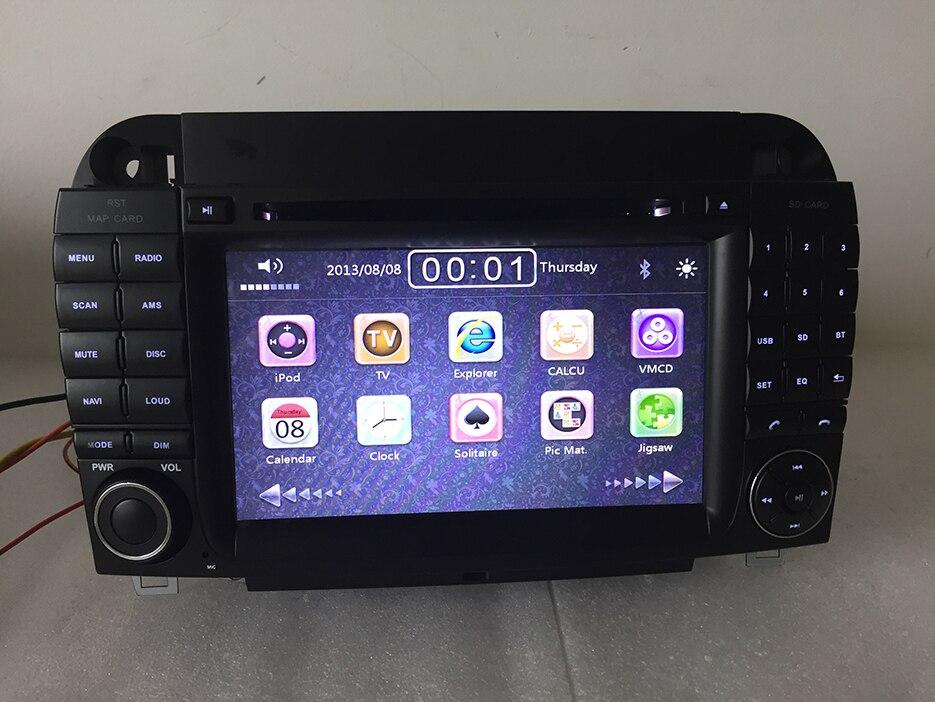 7 pollice 2 din lettore dvd dell'automobile per PER Benz/S280/S320/S350/S400/S500 /W220/W215/s Classe con Bluetooth/RDS/Radio/SWC/USB/SD/ canbus