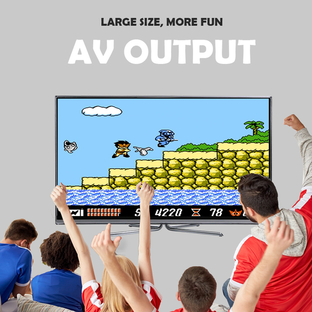 DATA FROG Mini 620 Retro Video Games Console Double Players 8 Bit Support AV Out Family TV Retro Games Controller 4