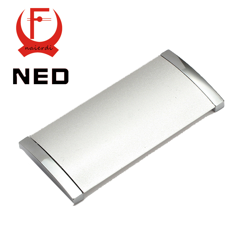 Brand NED 10PCS Diameter 102MM Hole Pitch 96MM Aluminum Alloy Hidden Handles Drawer Furniture Wardrobe Knobs Cabinet Hardware