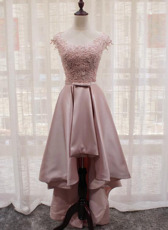 Dusty Pink High Low Evening Dress Top