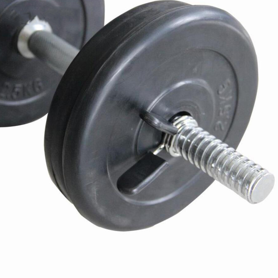 2pcs/set 2.5cm Barbell Spring Chuck Gym Weight Lifting Dumbbell Lock Clamp Non-slip Circlip Snap Gym Training Fitness Equipment