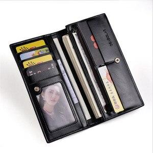 Image 5 - DEABOLAR hommes portefeuilles porte carte en cuir PU mâle portefeuille longue conception qualité passeport couverture mode décontracté hommes sac à main en vente