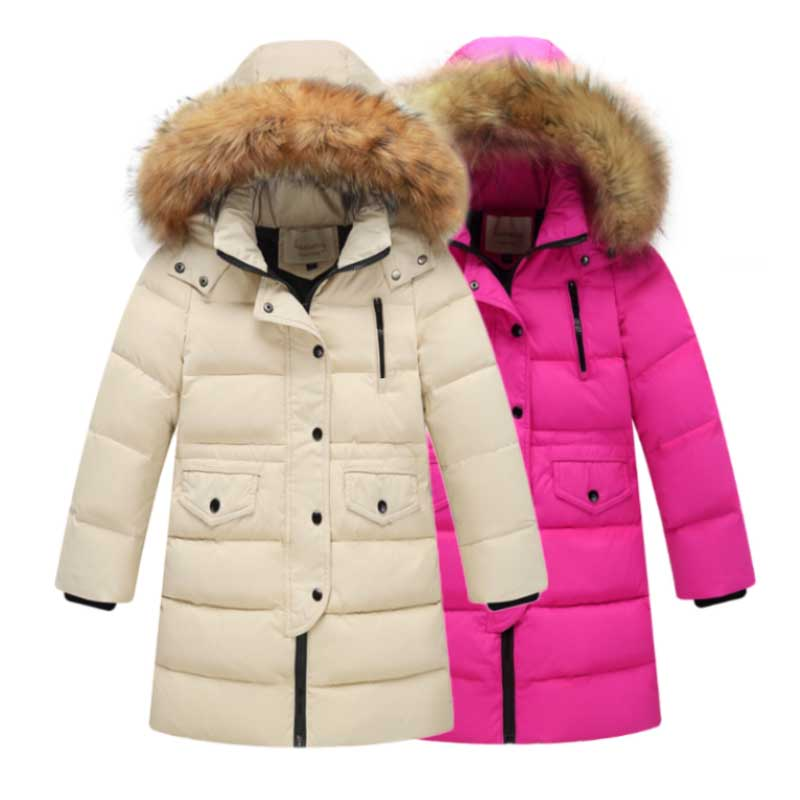 3-9T Children Jackets Boys Girls Winter down coat Baby Winter Coat Kids warm outerwear Hooded Coat snowsuit Overcoat Clothes buenos ninos thick winter children jackets girls boys coats hooded raccoon fur collar kids outerwear duck down padded snowsuit