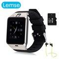 Lemse smart watch gv18 reloj de sincronización de notifier tarjeta sim soporte de conectividad bluetooth apple iphone android teléfono smartwatch reloj