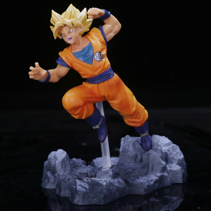 3 Styles Figure Collection 12cm Toys & Hobbies Dragon Ball Z Trunks Pink Dark Goku Super Saiyan Battle Fighting Ver Dbz Goku Action Figure