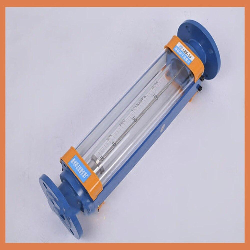 DN50 LZB 50 стеклянный ротаметр расходомер для жидкости. Фланцевое соединение, инструменты LZB50 расходомеры инструменты анализа измерения поток
