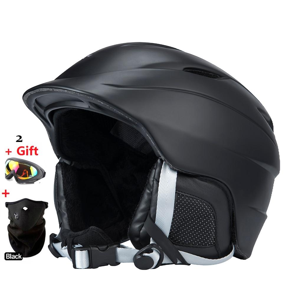 Free shipping authentic ski helmet extreme sports protective gear veneer double plate warm wind Snow Helmets Adult Children кольца гимнастические крепыш