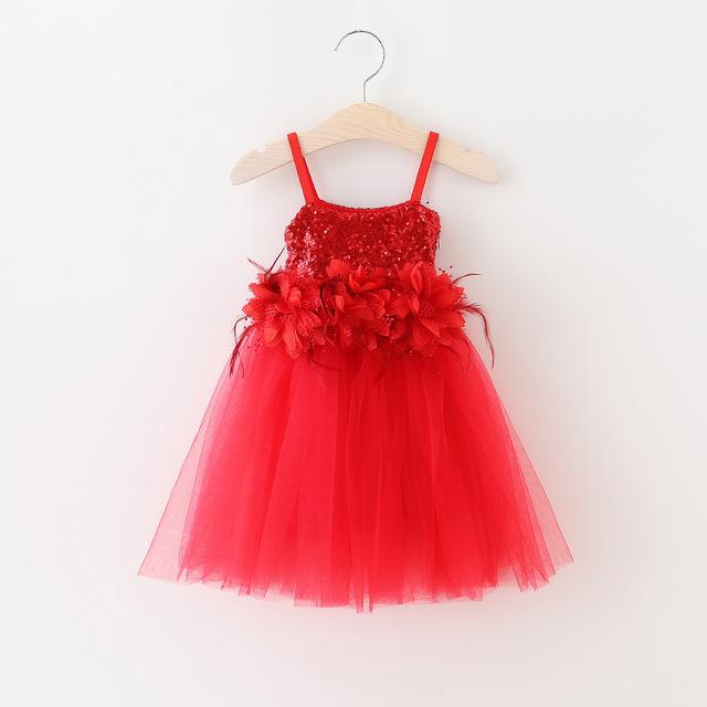 EL CCSME DHL Envío Gratis Todder Girls Bebé Vestido de Princesa Niños Rojo xmas Holiday Wear Vestido de la Liga infantil desgaste