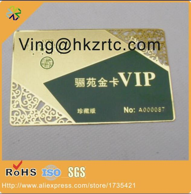 manufacturer bulk laser cut photo etched cheap custom business vip metal card - Bulk Business Cards