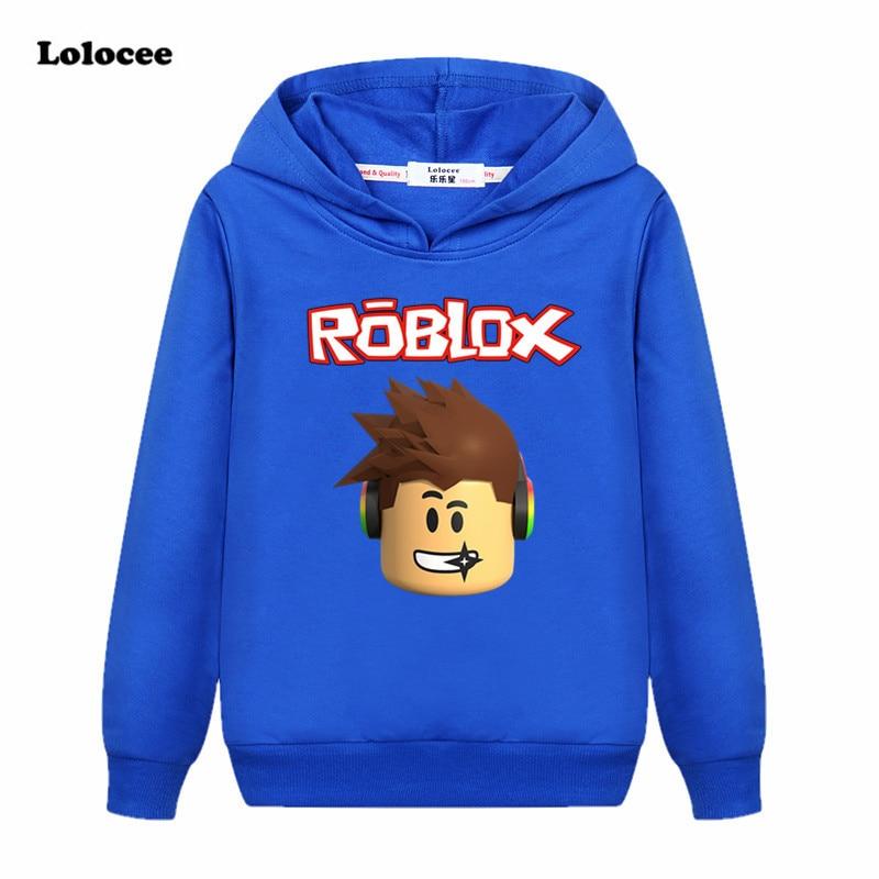 Hot Sale 3 14years Tops Roblox T Shirt Boys Hoodies Girls Sweatshirt