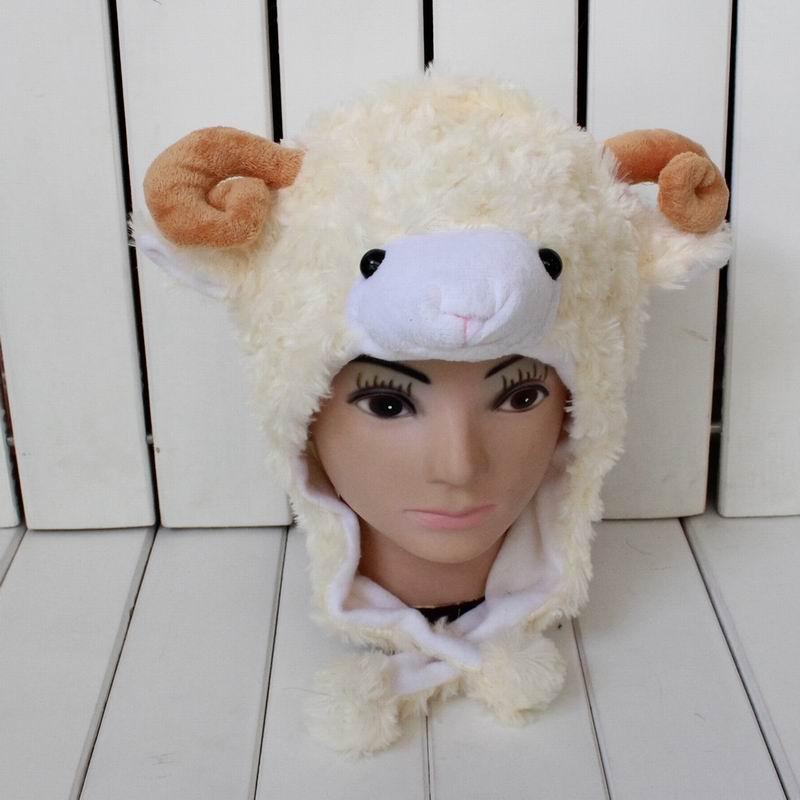 agneau-animal-de-bande-dessinee-chapeau-3-couleur-pour-adulte-et-enfant-de-chevre-en-peluche-oreille-d'hiver-protecteur-skullies-bonnets-chapeaux