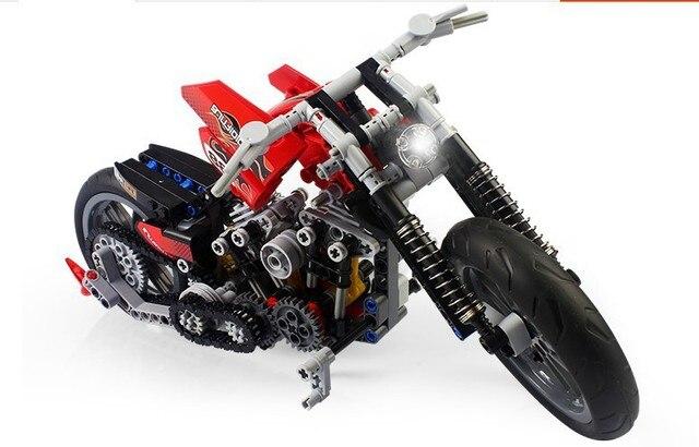 Decool 3353 3354 мотоциклов exploiture Строительные Блоки Устанавливает Образования DIY Игрушки Кирпичи игрушки лучший подарок для детей
