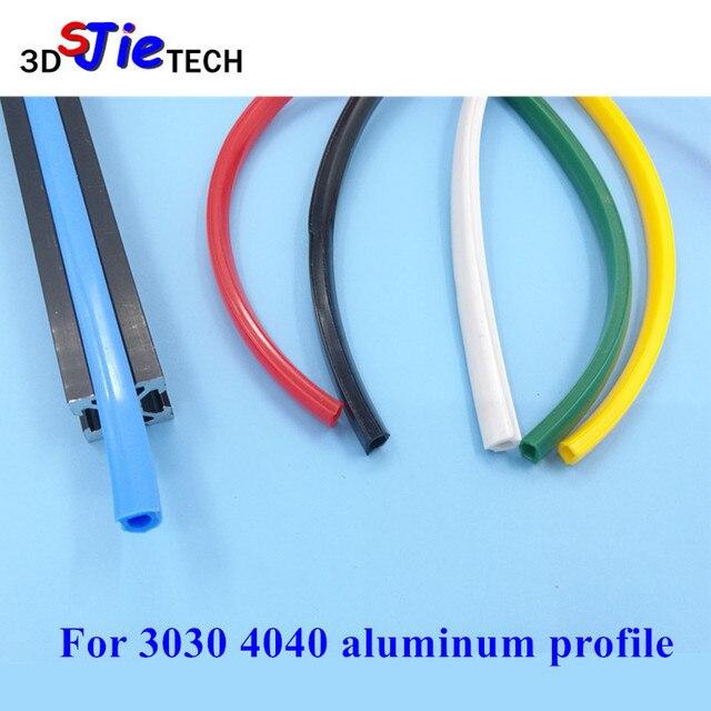 1 mètre 30 40 serie 8mm joint plat pour 3030 4040 profilé aluminium fente souple couvercle/panneau support noir/blanc/bleu/rouge/jaune/vert