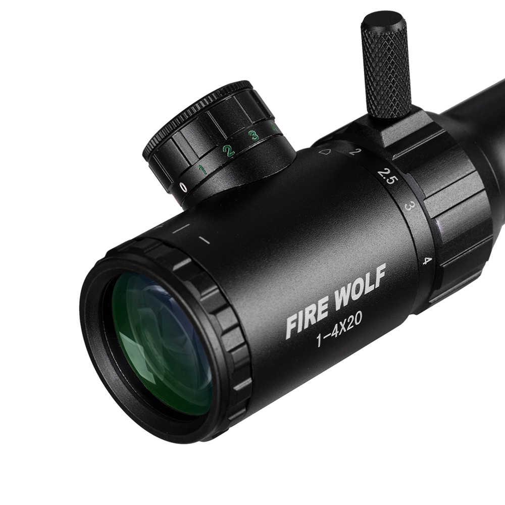 1-4X20 Riflescopes Rifle alcance caza W/monturas envío gratis