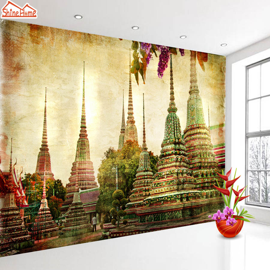 ShineHome-Europe Wallpapers Tower Church 3d Wallpaper for Walls 3 d  Living Room Wall Paper Murals Wallpaper Home Mural Roll european church square ceiling frescoes murals living room bedroom study paper 3d wallpaper
