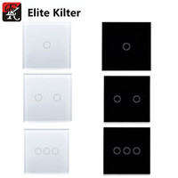 Elite Kilter Touch Switch White Crystal Glass Switch Panel Single Fire Wall Light Touch Screen Switch