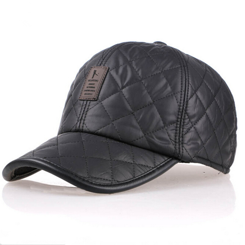 цена на High quality 2017 baseball cap men autumn winter Fashion Caps waterproof fabric Hats Thick warm earmuffs baseball cap 4 colors