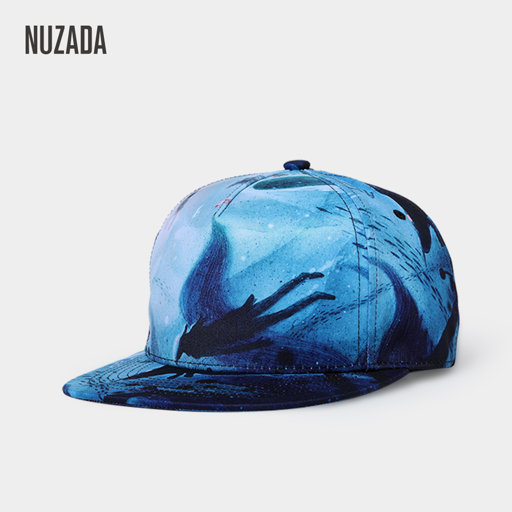 NUZADA Brand Exclusive Design 3D Printing Men Women Couple Hip Hop Cap Spring Summer Autumn Caps Internal Double Layer
