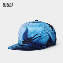 NUZADA Brand Exclusive Design 3D Printing Men Women Couple Hip Hop Cap Spring Summer Autumn Caps Internal Double Layer(China)