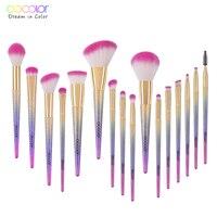 New Arrival Docolor 10PCS Makeup Brushes Fantasy Set Foundation Powder Eyeshadow Kits Gradient Color Makeup Brush