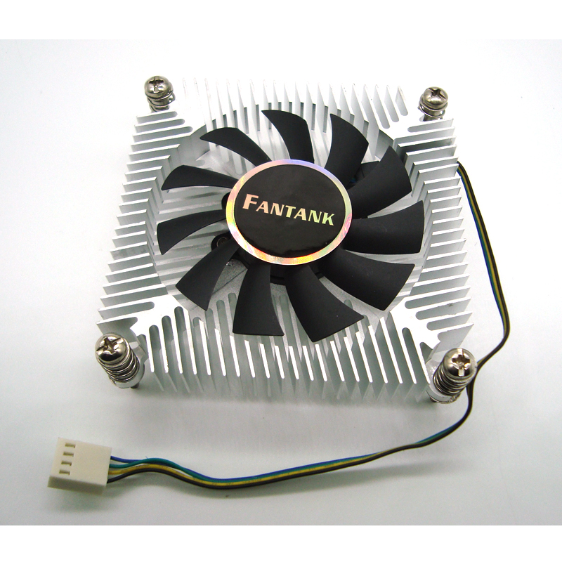 Free Shipping 1150 1151 1155 1156 CPU Cooler 1U 4pin PWM CPU Fan with Aluminum Heatsink 1500-3500RPM Cooling Fan for Computer