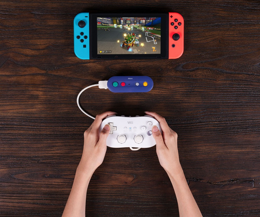 8bitDo GBros Wireless Adapter for NES SNES SF-C Classic Edition Wii Classic for Nintendo Switch Gamecube 16